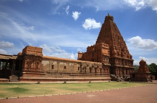 Brihadeeswarar Temple in Thanjavur, Tamil Nadu, India. One of the world heritage sites. copy