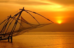 Chinese Fishing Nets in Fort Cochin - Kerala, India